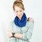 Royal blue cowl infinity scarf sweater knit short women fashion short cozy