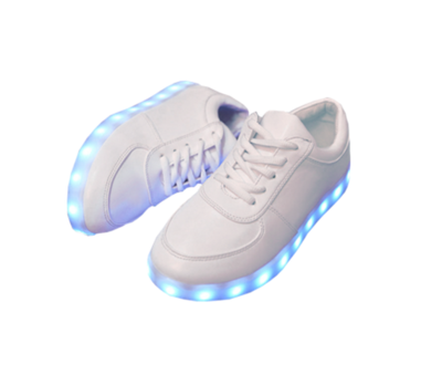 Light Up White Sneakers · moozoo · Online Store Powered by Storenvy