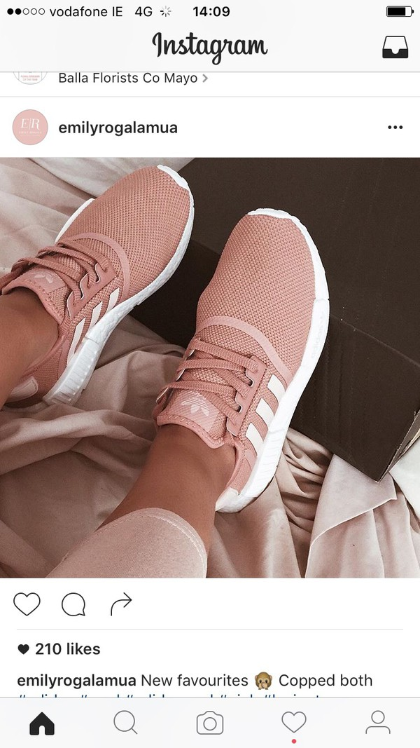 ... get shoes adidas pink sneakers adidas shoes pink shoes trainers blush pink  rose gold addias shoes 1130b2f48a
