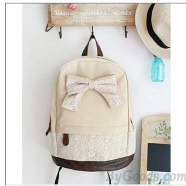 Stylish Ladies Smith Retro Bow Backpack Rucksack Girls School ...