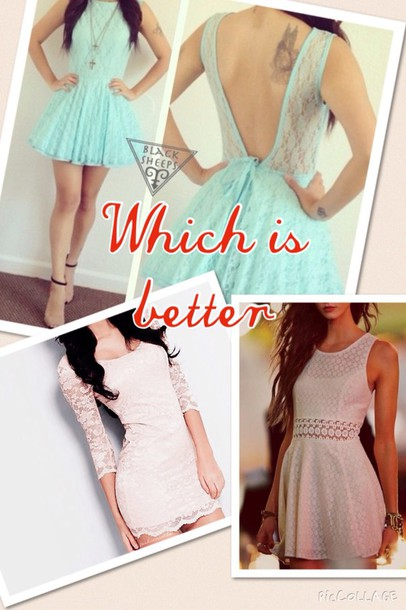 dress white lace dress turquoise dress lace dress