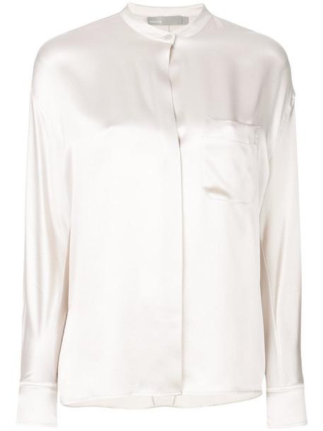 Vince blouse women nude silk top