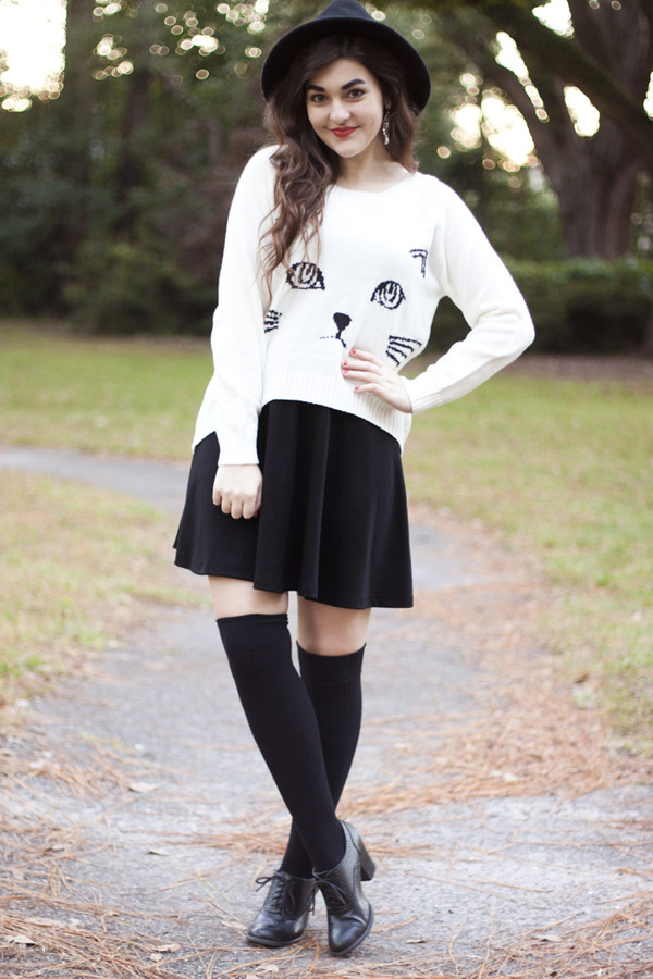 a walk in the park dress sweater shoes hat