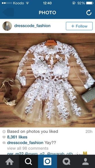 dress lace dress short dress long sleeve dress