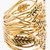 Aurélie Bidermann Gold Wheat Cuff for women | SSENSE