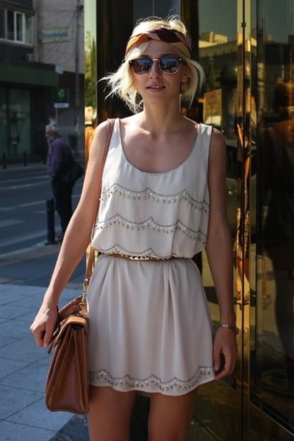 dress cream belt waist belt sparkle sparkly dress cream dress vintage dress