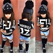 shirt,black and white,black,femme,long socks,summer,varsity stripes,varsity,white,blackcute,cute,homme+femme,kids fashion,kids with swag,new balance,baby clothing,jacket,shorts,top,cardigan,she's cute