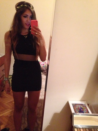 brandy melville black little black dress balenciaga