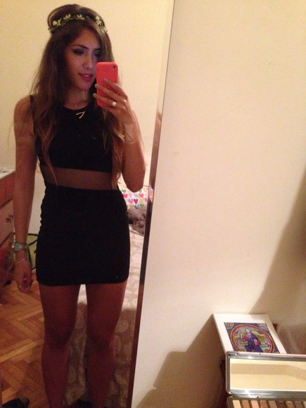 balenciaga black brandy melville little black dress