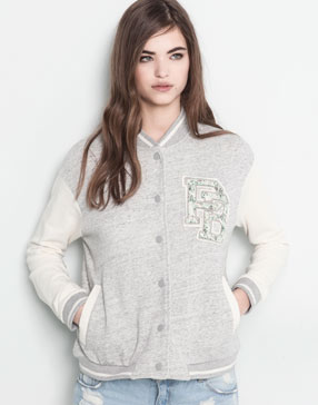 BASEBALL JACKET WITH PATCH DETAIL - NEW PRODUCTS - WOMAN -  PULL&BEAR United Kingdom