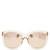 Oversized D-frame acetate sunglasses