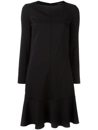 dress women spandex black wool