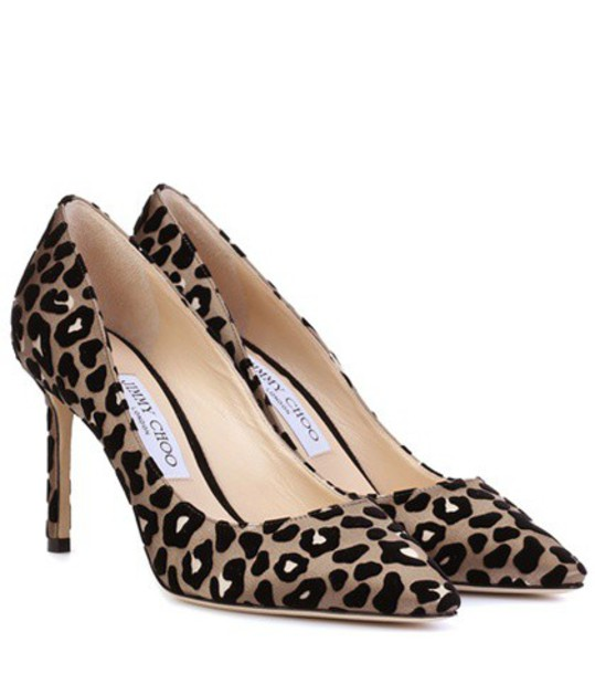 Jimmy Choo pumps satin beige shoes
