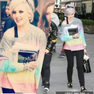 sweater little mix perrie edwards one direction zayn malik girlfriend sweet color/pattern cute