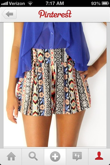 comfortable shorts tribal