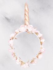 hat,gold soul,coachella,tumblr,tumblr outfit,boho,handmade,headband,flowers,chic,boho chic,festival,edc,unicorn,flower headband,music festival,pink flower headband