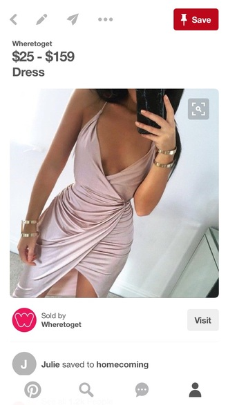 dress homecoming dress silk dress pink dress
