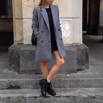 coat grey coat classy streetwear