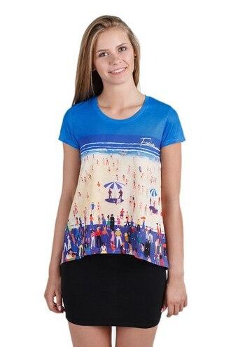 t-shirt print printed t-shirt full print t-shirt all over print t-shirt beach del mar womens t-shirt