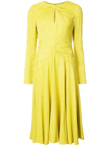 Prabal Gurung dress women silk yellow orange