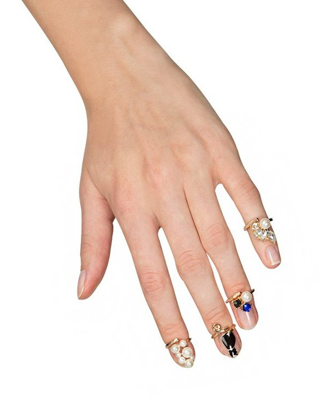 jewels trendy rings fall outfits pre fall cat rings pearl ring nail rings cute rings cute accessories trendy accessories fall trends back to school fall outfits knuckle ring statement ring affordable accessories pixie market pixie market girl