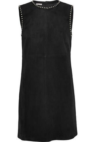 dress mini dress mini studded suede black