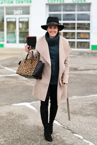 sequins and stripes blogger coat hat sweater leggings shoes bag sunglasses