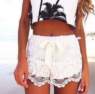 shorts lace short