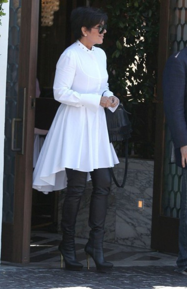 dress white dress kris jenner