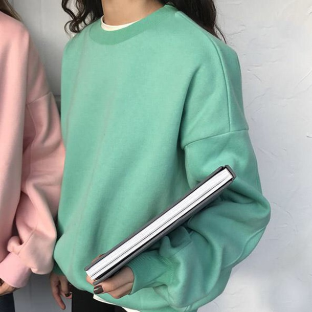 sweater girly sweatshirt jumper teal