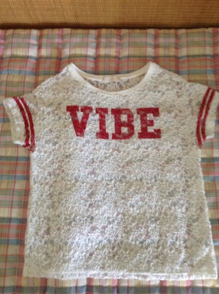 varsity t-shirt red white vibe collage