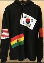 sweater,supreme,flags,hoodie