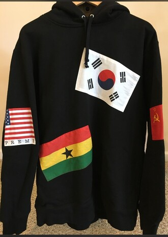 sweater supreme flags hoodie