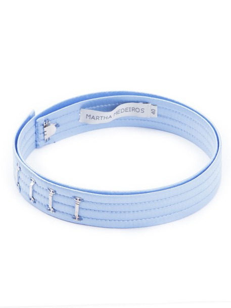 belt blue satin