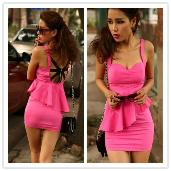 Dress: club dress, pink dress - Wheretoget
