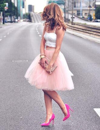 skirt tulle skirt chiffon skirt high waisted skirt