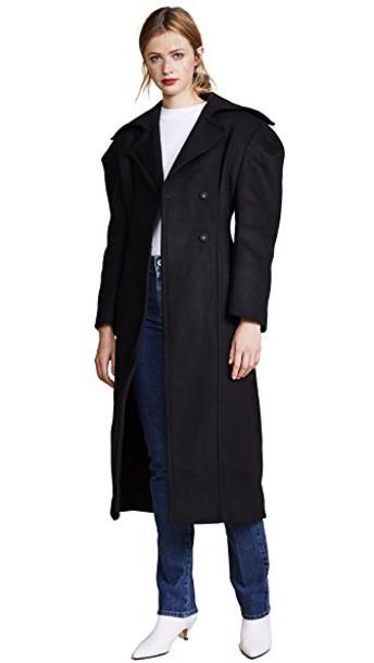 Jacquemus overcoat black coat