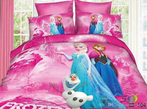 make-up 3d kids bedding sets elsa anna olaf bedding flat sheet pillow bedding