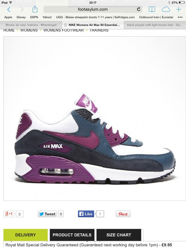 shoes air max purple navy