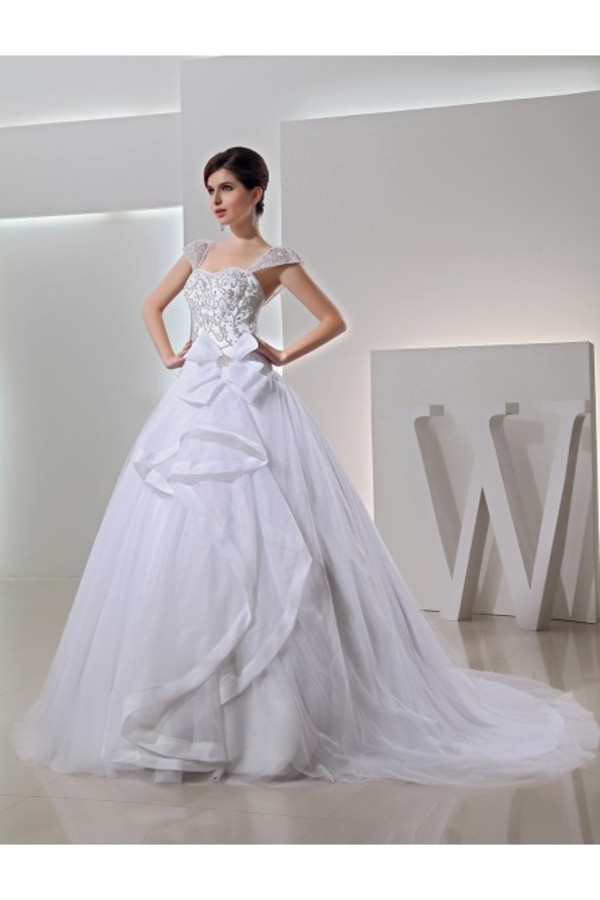 square wedding dress