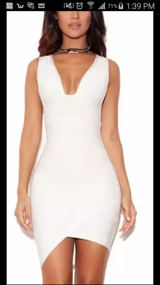 dress white bodycon bodycon dress