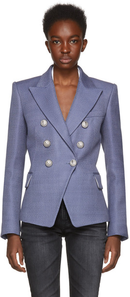 Balmain blazer blue jacket