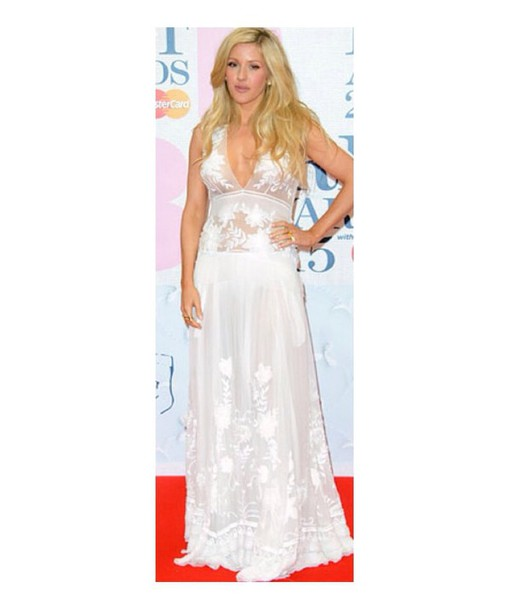 dress ellie goulding lace white long pretty