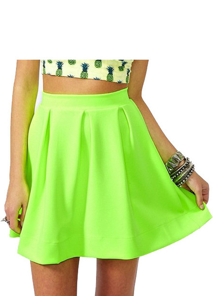 Neon Sia Skater Skirt | Outfit Made