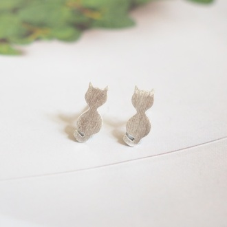 jewels summer summer handcraft cats cat earrings earrings cute cute earring sterling silver silver earrings unique earrings gift ideas lovely gift girlfirend gift birthday gift best gifts