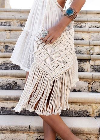 bag boho bohemian crochet disheefashion