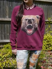 Wildlife Bear Face, Bear Jumper, Bear Sweatshirt, Bear Sweater, Bears,Womens,New | eBay