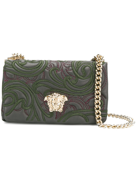 VERSACE women bag leather green