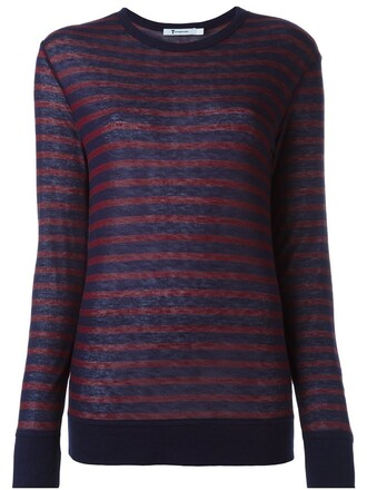 t-shirt shirt striped t-shirt red top