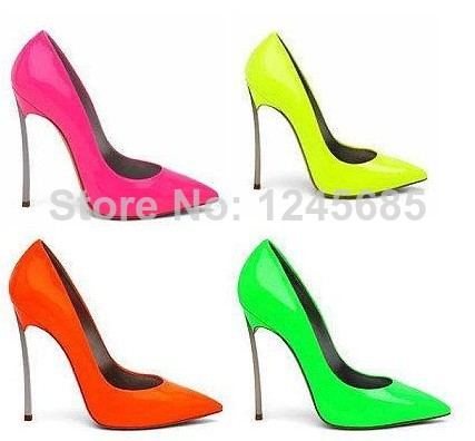 2013 popular stiletto thin heels Blade pumps wedding dress shoe Patent Leather pointed patent leather wedge-in Pumps from Shoes on Aliexpress.com